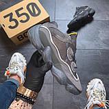 Мужские кроссовки Adidas Yeezy 500 Utility Black, Мужские кроссовки Адидас Изи Буст 500 черные рефлект., фото 2
