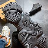 Мужские кроссовки Adidas Yeezy 500 Utility Black, Мужские кроссовки Адидас Изи Буст 500 черные рефлект., фото 4