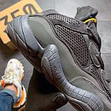 Мужские кроссовки Adidas Yeezy 500 Utility Black, Мужские кроссовки Адидас Изи Буст 500 черные рефлект., фото 7