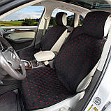 Накидки на передние сидения алькантара LUX стеганые (бежевые+бежевая нить) 1+1, фото 7