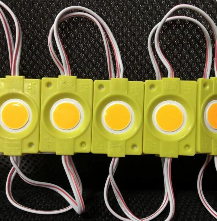Светодиодный модуль BRT COB 2.4W круглый YELLOW, 12В, IP65 желтый