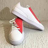 Кроссовки puma basket crush wns white (36955601) 39 размер, фото 3