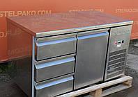 Холодильный стол из нержавеющей стали с шухлядами «Desmon» 1.3 м. (Италия), Б/у