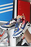Nike React Element 87Gray Blue Red Найк Реакт Серый Красный Синий🔥 Найк мужские кроссовки 🔥, фото 4