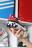 Nike React Element 87Gray Blue Red Найк Реакт Серый Красный Синий🔥 Найк мужские кроссовки 🔥, фото 2