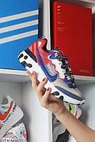 Nike React Element 87Gray Blue Red Найк Реакт Серый Красный Синий🔥 Найк мужские кроссовки 🔥