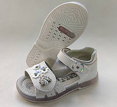 Детские сандалии сандали босоножки для девочки белые CBT.T 29р 17см