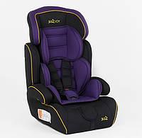 Автокресло для детей Фиолетовое от 9 ло 36 кг, с бустером JOY 8577 BV