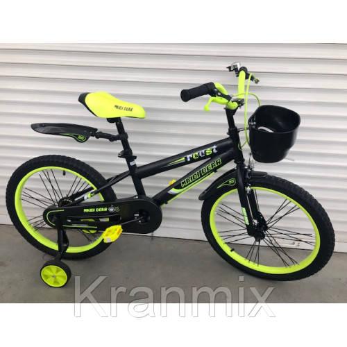 Велосипед TopRider 12 дюймов  салатовый Для детей