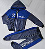 Спортивный костюм на мальчика от 2 до 6 лет, синего цвета 21015