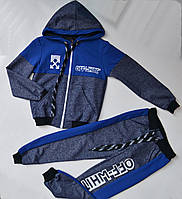 Спортивный костюм на мальчика от 2 до 6 лет, синего цвета 21015, фото 1