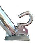 Кронштейн д50 мм 350 мм 45гр з Крюком для світильників вуличного освітлення, фото 7