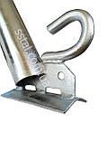 Кронштейн д50 мм 350 мм 45гр з Крюком для світильників вуличного освітлення, фото 9