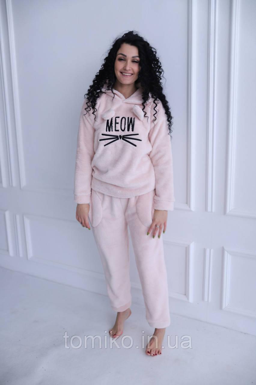 Домашний костюм-пижамка тёплая MEOW