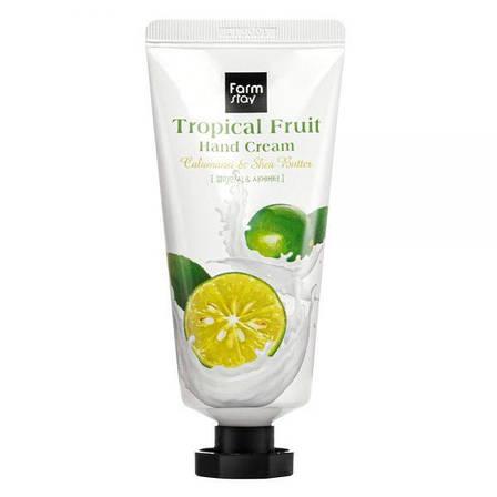 Крем для рук FarmStay Tropical Fruit с экстрактом каламондина с маслом ши 50 мл (881217), фото 2