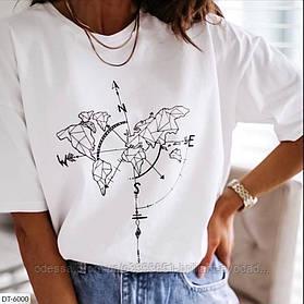 Модная женская футболка в разных принтах