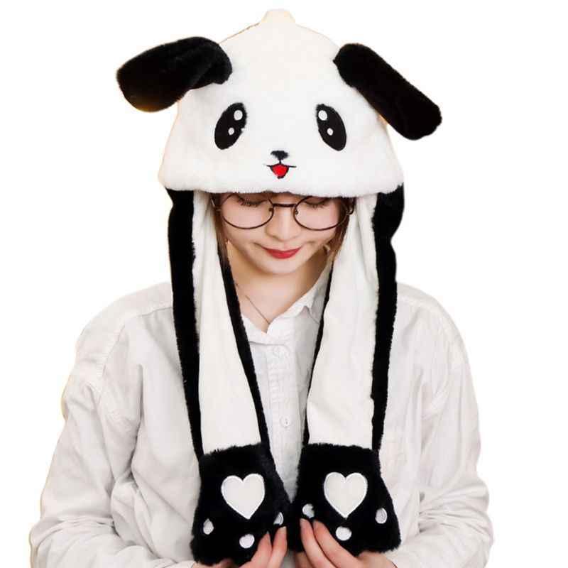 Шапочка с подвижными ушками Панда