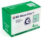 Иглы Микро-Файн (Micro-Fine) 4мм — 100шт.