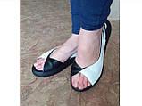 Классические кожаные босоножки на платформе Terra Grande, фото 6