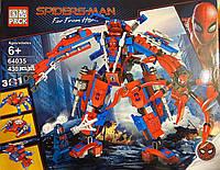 Конструктор PRCK, Lele 64035 Super Heroes Супергерои 3 в 1 Человек-паук, аналог лего супергерои 76115, 430 дет