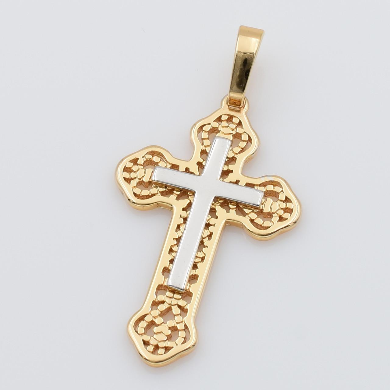 XUPING Кулон Крест Позолота+Родий Высота 3.8см, Ширина 2см