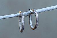 Серьги кольца, нарядные серьги кольца