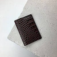 Кожаная обложка на паспорт TREBA 10021 Коричневая