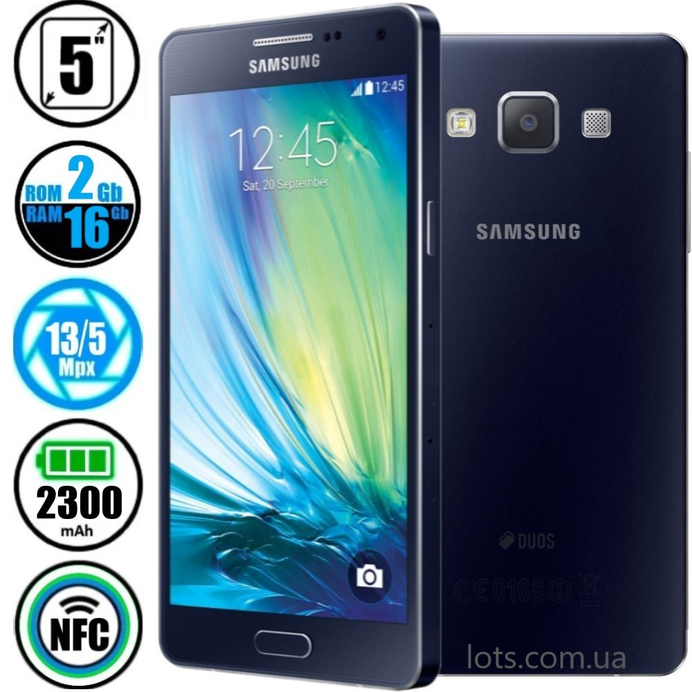Смартфон Samsung Galaxy A5 SM-A500H Black NFC (Оригинал) + Подарок Защитное Стекло