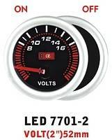 Дополнительный прибор Ket Gauge LED 7701-2 вольтметр. Дополнительный прибор