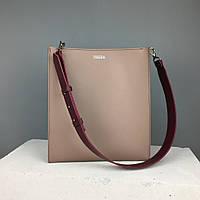 Женская кожаная сумка-шоппер 2.0 TREBA (вместительная сумка,повседневная сумка) Каппучино