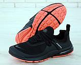 Чоловічі кросівки в стилі найк Air Presto BRS 1000 Black Red, фото 2