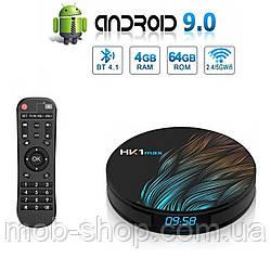 Смарт приставка TV Box HK1 Max 4/64 Гб Android 9.0 Smart TV (смарт ТБ приставка на андроїд) + 3 місяці Sweet