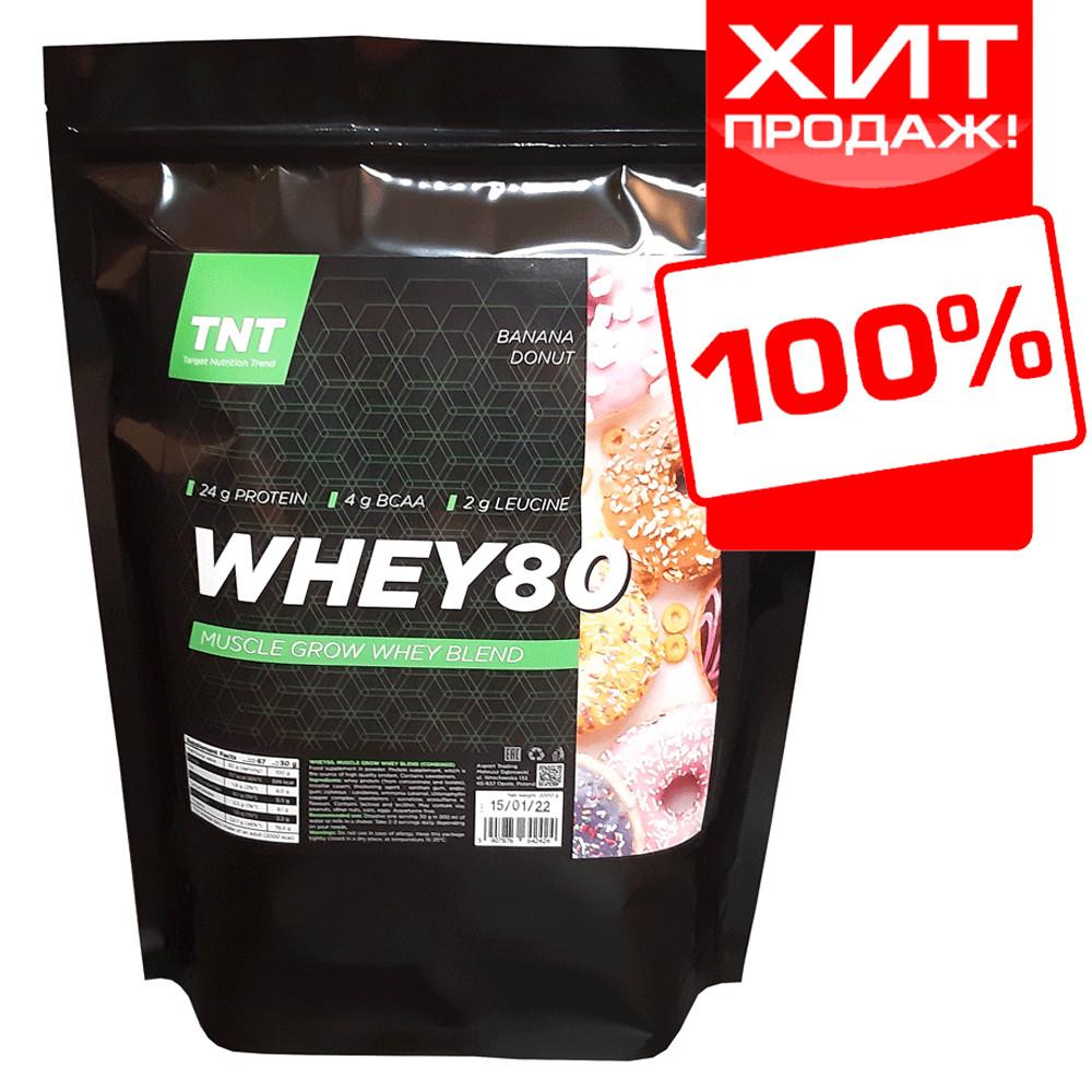 WHEY 80 сироватковий Протеїн TNT Target-Nutrition-Trend 2 kg. Poland (банановий пончик)