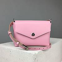 """Кожаная женская сумка """"Мини"""" TREBA (кросс-боди, cross-body) Розовая"""