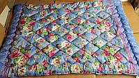 Одеяло двойной силикон 150*215, стеганое (цвета в ассортименте)