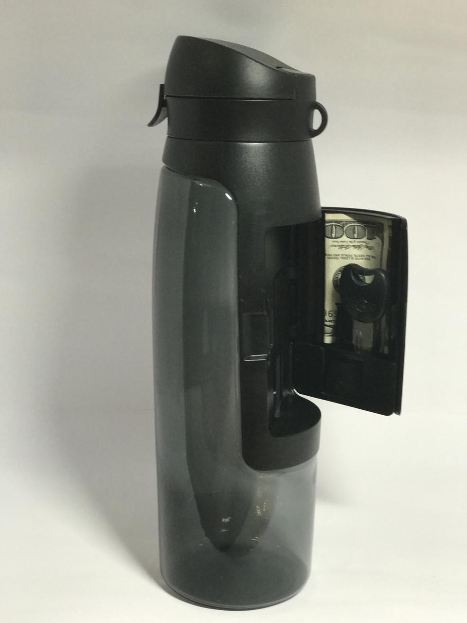 Спортивная бутылка для воды с кошельком. Оптом и в розницу