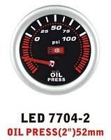 Дополнительный прибор Ket Gauge LED 7704-2 давление масла. Дополнительный прибор