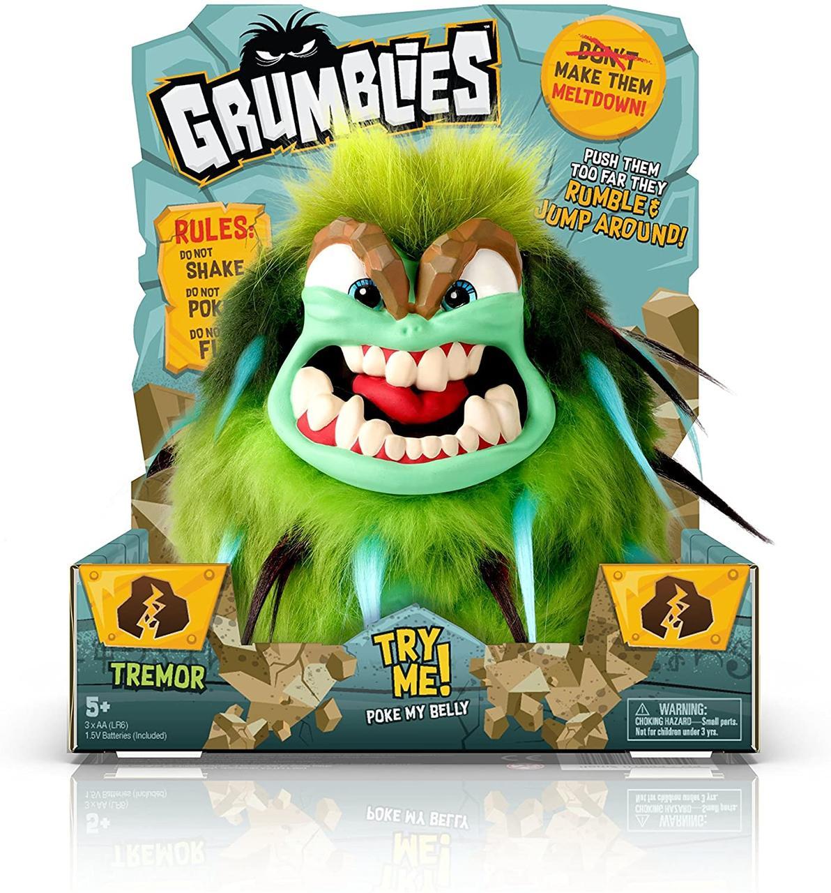 Интерактивная игрушка Монстр Тремор Зеленый Grumblies Tremor Green от Pomsies, оригинал из США
