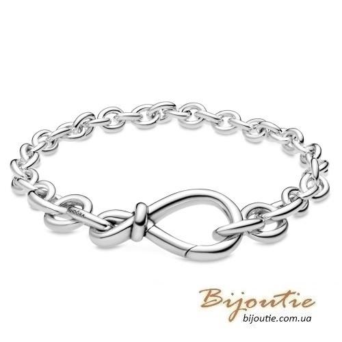 Срібний браслет Пандора ВУЗОЛ НЕСКІНЧЕННОСТІ #598911C00