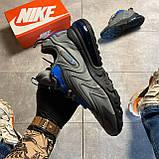 Мужские кроссовки Nike Air Max 270 React, Мужские Найк Аир Макс 270 серые мужские кроссовки, фото 8