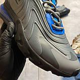 Мужские кроссовки Nike Air Max 270 React, Мужские Найк Аир Макс 270 серые мужские кроссовки, фото 9