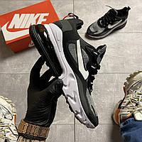 Мужские кроссовки NikeAir Max 270 React, Мужские Найк Аир Макс 270 серые мужские кроссовки
