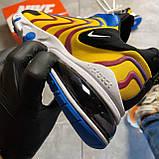 🔥 Nike Air Max 270 React Eng Yellow Blue Найк Аир Макс 270 🔥 Найк мужские кроссовки 🔥, фото 3