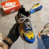 🔥 Nike Air Max 270 React Eng Yellow Blue Найк Аир Макс 270 🔥 Найк мужские кроссовки 🔥, фото 6