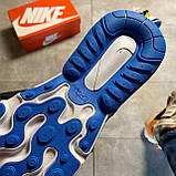 🔥 Nike Air Max 270 React Eng Yellow Blue Найк Аир Макс 270 🔥 Найк мужские кроссовки 🔥, фото 7