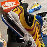 🔥 Nike Air Max 270 React Eng Yellow Blue Найк Аир Макс 270 🔥 Найк мужские кроссовки 🔥, фото 8