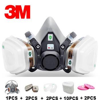 Респіратор напівмаска 3М 6200 з фільтрами 6001 CN, 2091 P100, 5N11 CN 95 17 17 1
