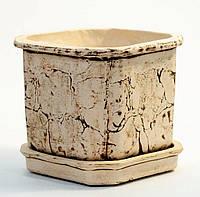 Керамический горшок для растений КУБ 14*14 см