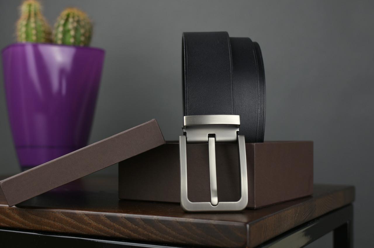 Мужской джинсовый кожаный ремень черного цвета размер m 110 см