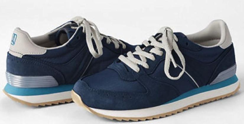 Синие замшевые   кроссовки сникерсы Ландсенд Lands End  (Размер 25,5 см) Оригинал